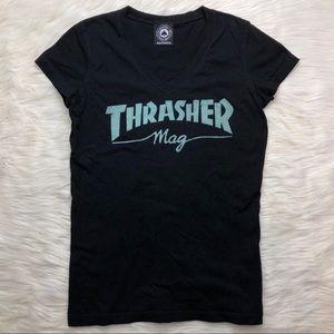 Thrasher Magazine Black V Neck